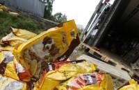 Avarii: maanteel vedeles hunnik koeratoitu