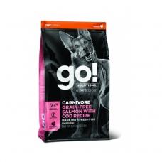 GO! Solutions Carnivore teraviljavaba koeratoit, tursa- ja lõhekalaga, 10 kg