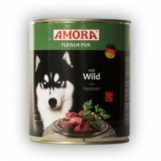 Amora konserv koertele looma- ja hirvelihaga, 12x800 gr