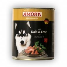 Amora konserv koertele pardi- ja vasikalihaga, 12x800 gr