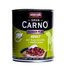 Animonda Gran Carno konserv koertele veise-, jäneseliha ja ürtidega, 12x800 gr
