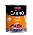 Animonda Gran Carno Adult konserv koertele veise-, pardi- ja kalkunilihaga, 12x800 gr