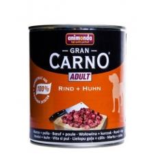 Animonda Gran Carno Adult konserv koertele veise- ja kanalihaga, 12x800 gr