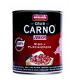 Animonda Gran Carno konserv kutsikale ja noorele koerale loomaliha ja kalkunisüdametega, 12x800 gr