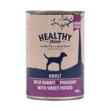 Healthy Paws teraviljavaba konserv metsiku jänese ja faasanilihaga, 12x400 gr