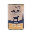 Healthy Paws teraviljavaba konserv kalkuni ja hanelihaga, 12x400 gr