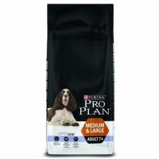 Pro Plan Dog Medium Large Adult koeratoit 7+ vanustele koertele, kanalihaga, 14 kg