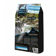 Wolf's Mountain Alaska River teraviljavaba koeratoit lõhe ja kanalihaga, 12,5 kg