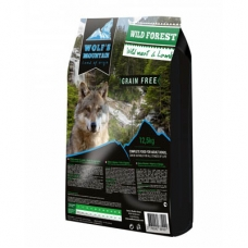 Wolf's Mountain Wild Forest teraviljavaba koeratoit uluki- ja lambalihaga, 12,5 kg