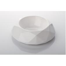 DePeDi keraamiline söögikauss Diamond, valge, erinevad suurused